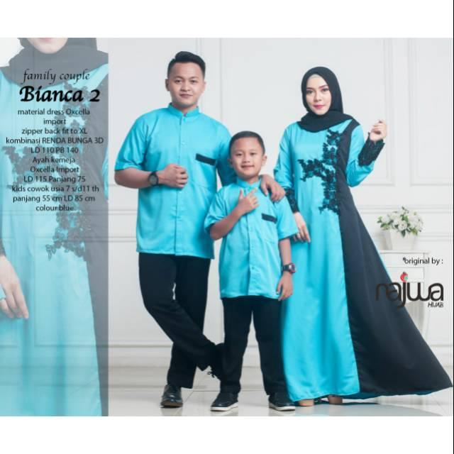 Gamis cauple family dress set 3in1 by ori najwa ()