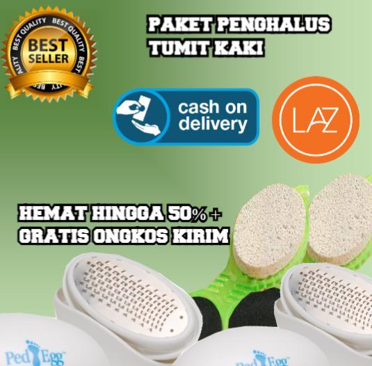 Zero Com - Buy One Get Two Ped Egg + Sikat Penghalus Tumit Kaki PENGHALUS TUMIT