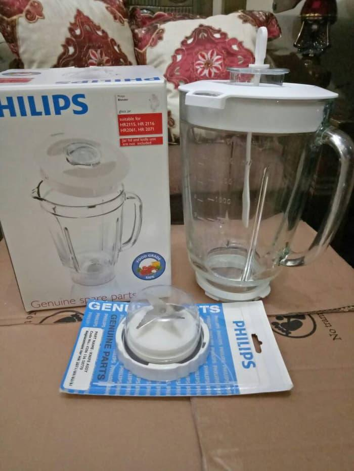 ORIGINAL!!! Gelas kaca blender philips hr 2061/2071/2115/2116 ORIGINAL (komplit) - rJA1X3