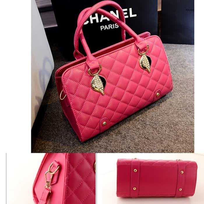 Produk Baru - Fashion Bag Kode B671 Ready Rose Red Dan Gold - ready stock