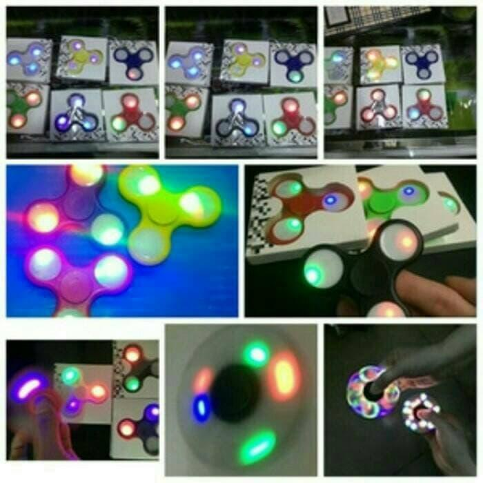 Promo..edc Fidget Spinner Led High Quality Hand Flip Toy By Dila Store 279