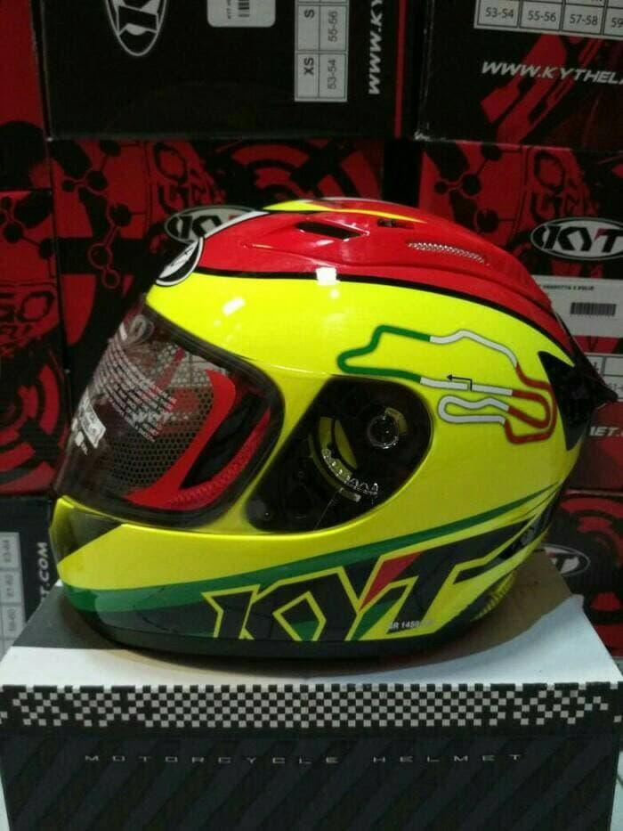 Helm KYT RC Seven #15-ITALY Yellow Fluo