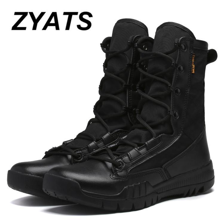 Zyats Baru Pria Luar Sepatu Tentara Laki-laki Komando Tempur Desert Daki Gunung Luar Ruangan Sepatu Landing Sepatu Taktis Militer