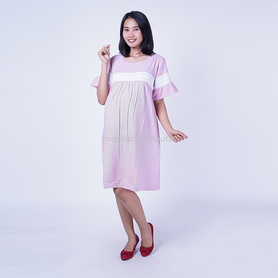 Ning Ayu Dress Hamil Renda Ghea Dress - DRO 896  / Baju Hamil dan Menyusui/ Baju Ibu Menyusui / Baju Ibu Menyusui Lengan Panjang / Baju Gamis Ibu Menyusui / Baju Daster Ibu Menyusui / Baju Wanita Menyusui