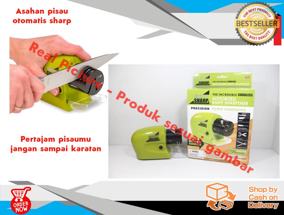 Zero Com - Original Swifty Sharp / Pisau & Pengasah Pisau Elektrik / Pengasah Pisau listrik / Pengasah / Asahan Pisau Elektrik Otomatis