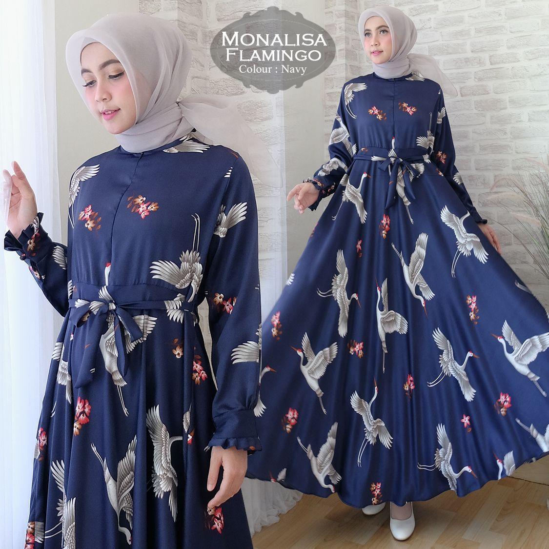 Princess Wardrobe - Maxi Monalisa Angsa / Syari / Hijab / Gamis / Fashion Muslinlm / Busana Muslim