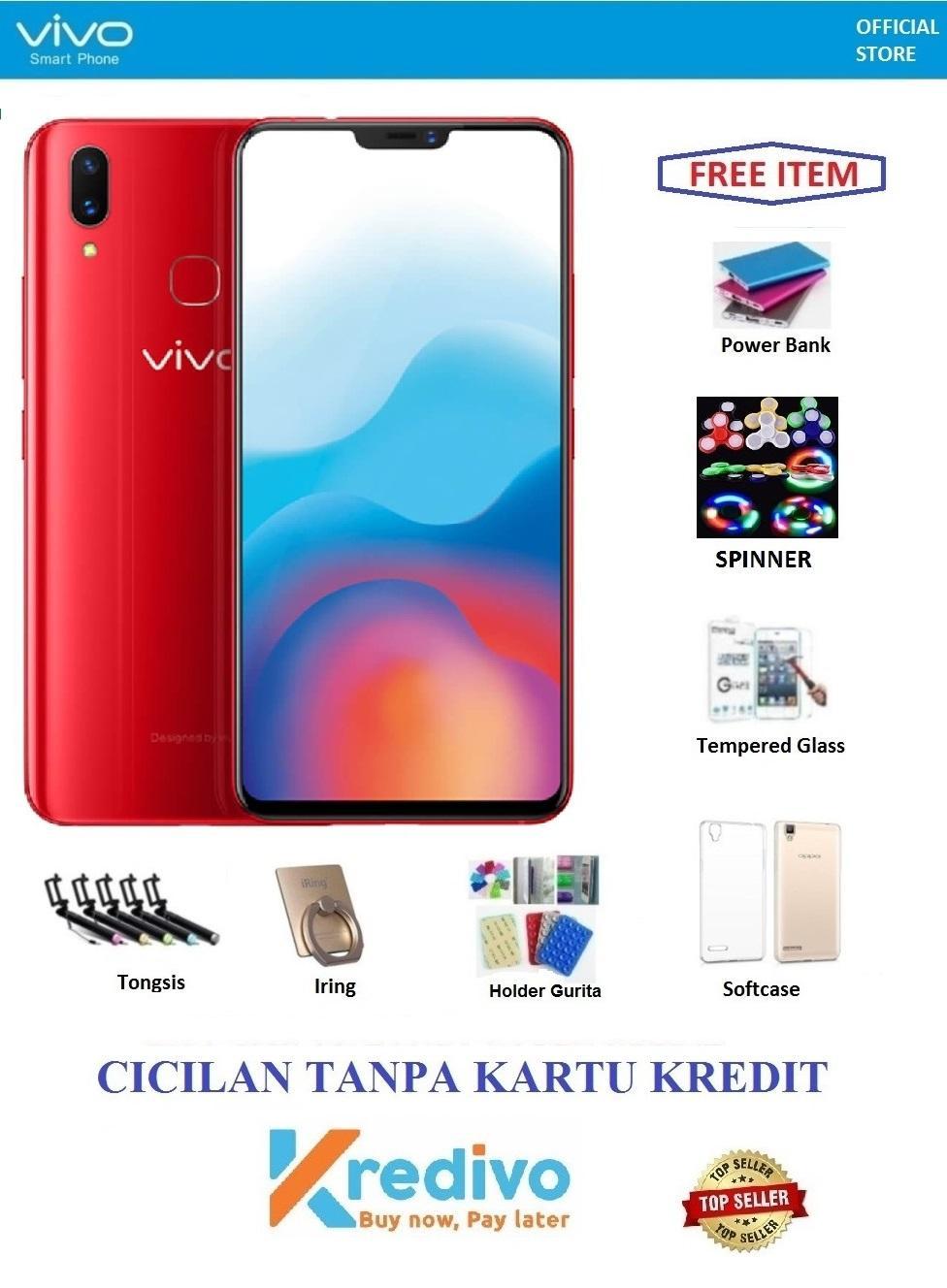 Vivo V9 Ram 6/64GB - Bisa Cicilan Tanpa Kartu Kredit + Free 7 Items