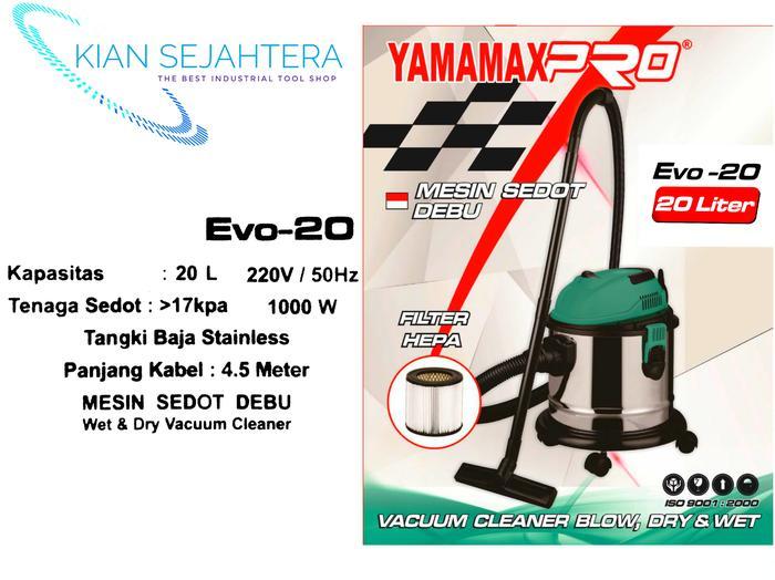 YAMAMAX EVO20 mesin vacum cleaner 3 in 1. mesin sedot debu