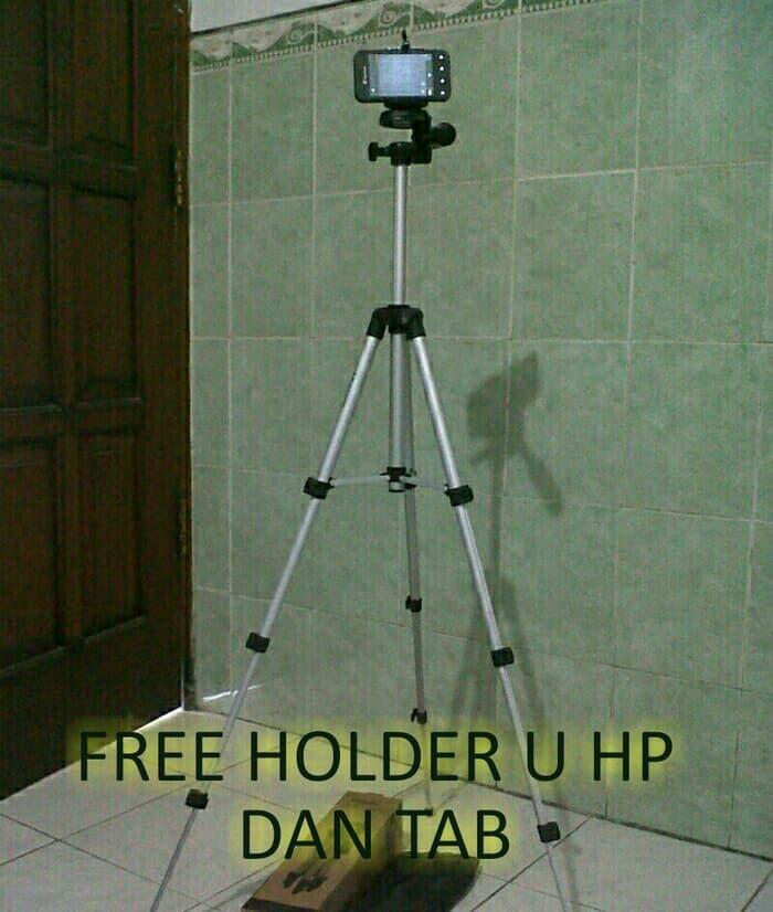 Promo Tripod buat hp, kamera pocket dan dslr free holder medium. original