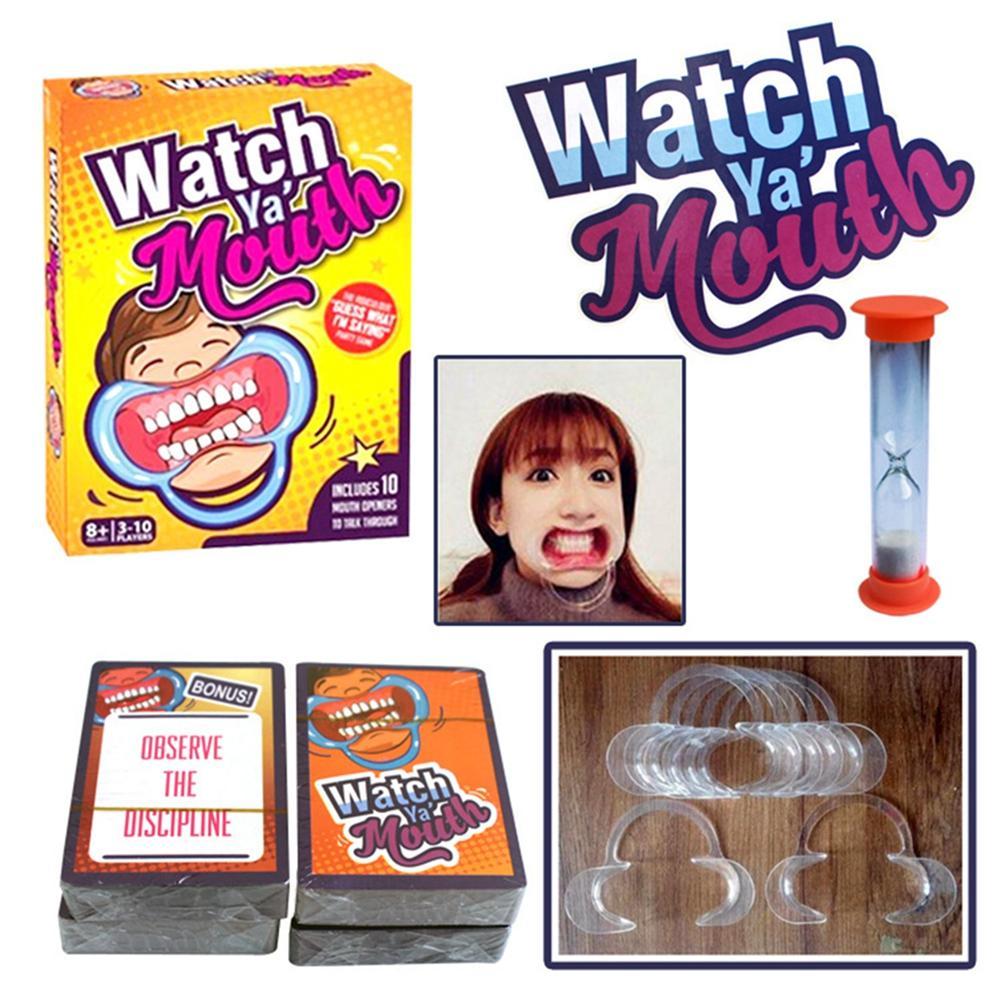 HOT Funny Family Edition Lucu Mouth Guard Mulut Pembuka untuk Fun Speaking Out Game Keluarga Game