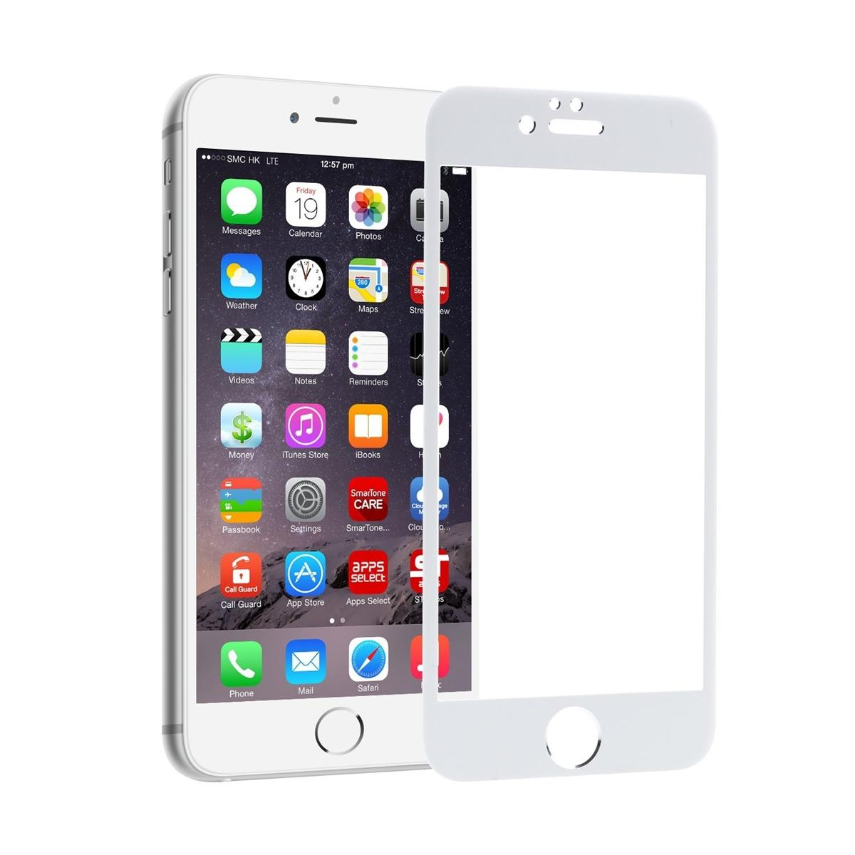 Full Cover Tempered Glass Warna Screen Protector for iPhone 6 Plus / Iphone6 Plus / iPhone 6S Plus Anti Gores Kaca / Screen Guard / Screen protection - Putih