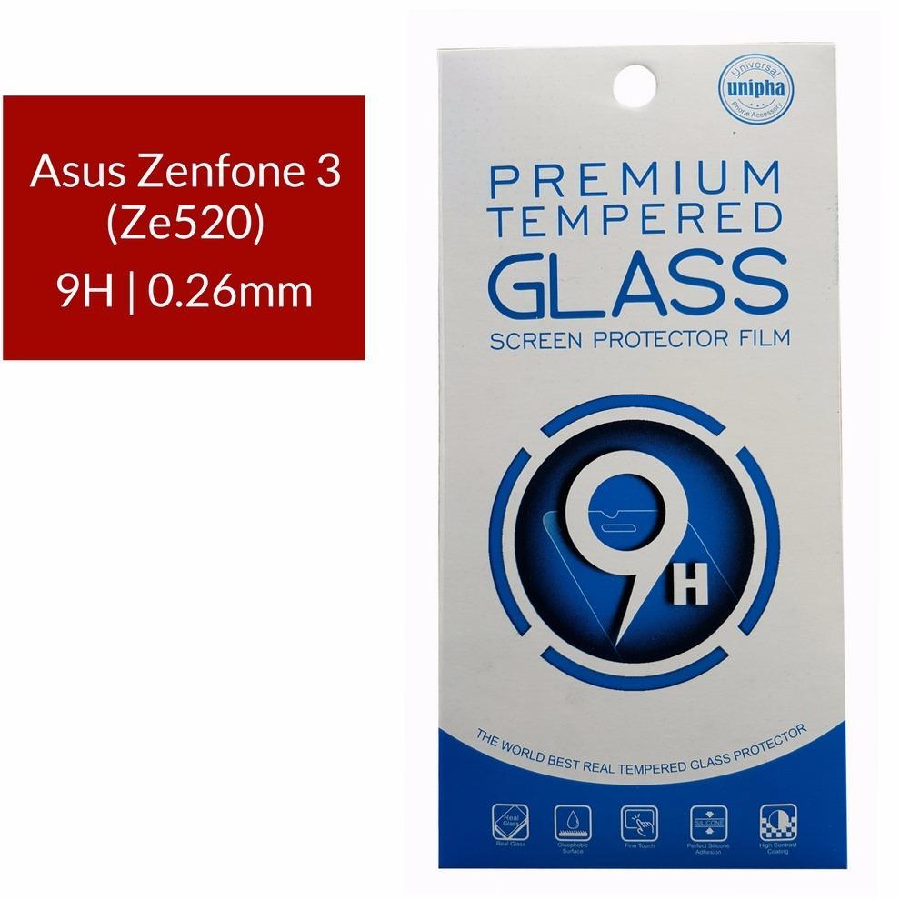 Unipha Premium Tempered Glass Screen Protector / Anti Gores Kaca Asus Zenfone 3 (Ze520) - Bening