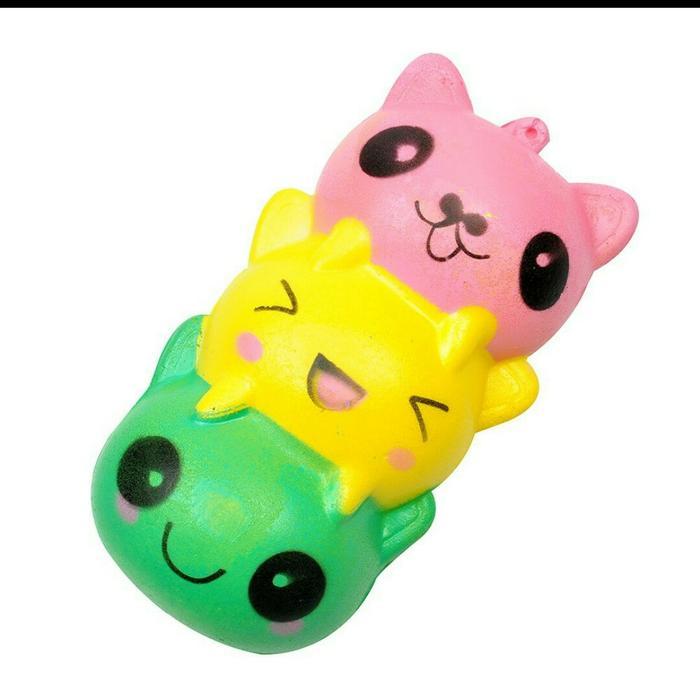 Squishy kucing rainbow best seller / mainan anak Squishy kucing rainbow best seller / mainan anak