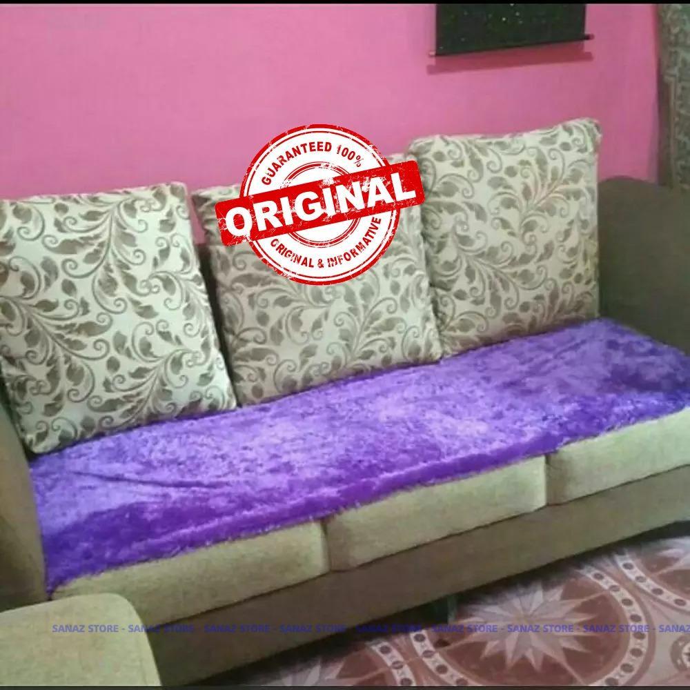 ORIGINAL  Alas Sofa Bulu Rasfur Bahan Nyaman Adem dan Cantik dilihat - sanaz store
