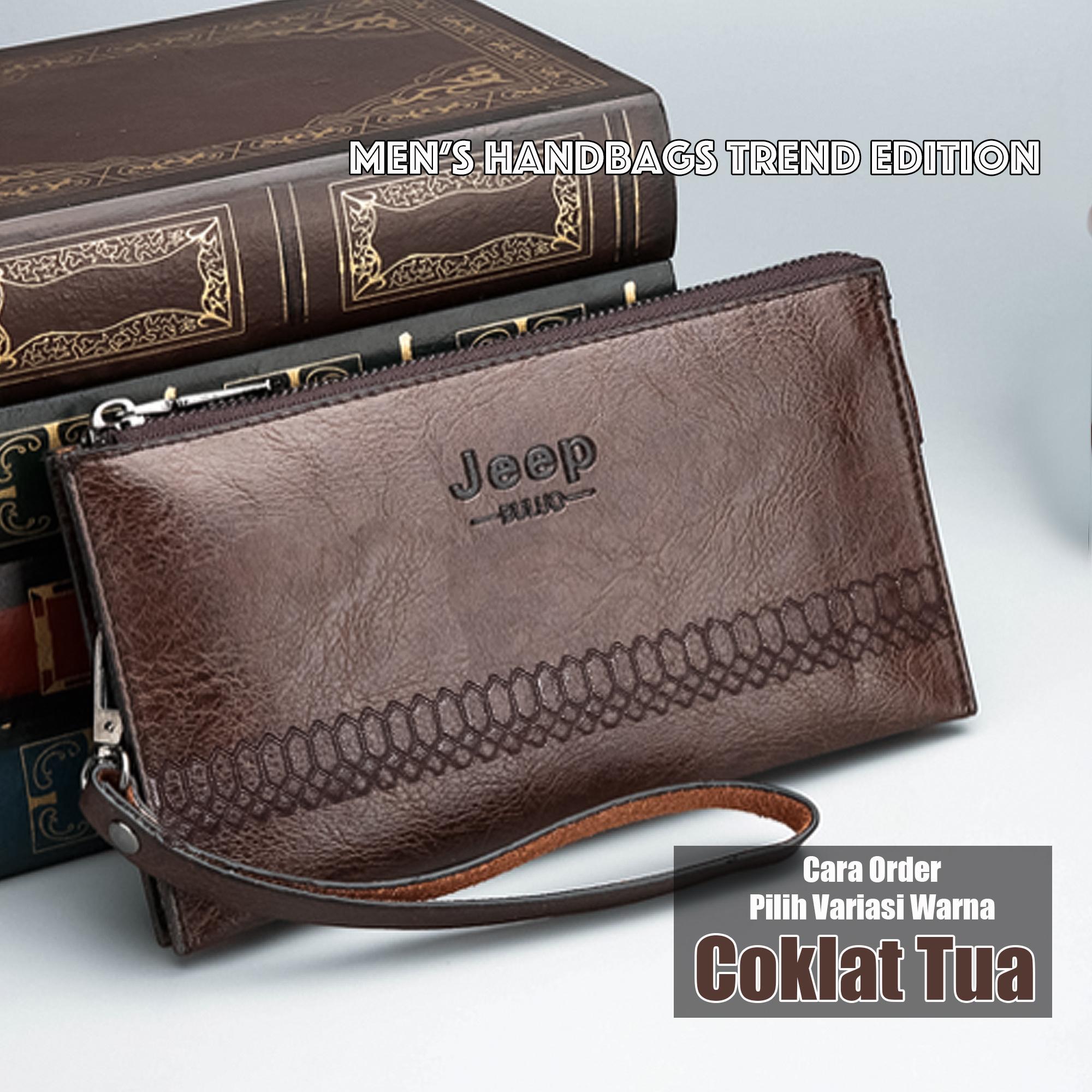 Tas Tangan Import Hand Bag Dompet Panjang Tas Pria Wanita Gaya Korea ( Jeep  - A023 d2d78a7f89