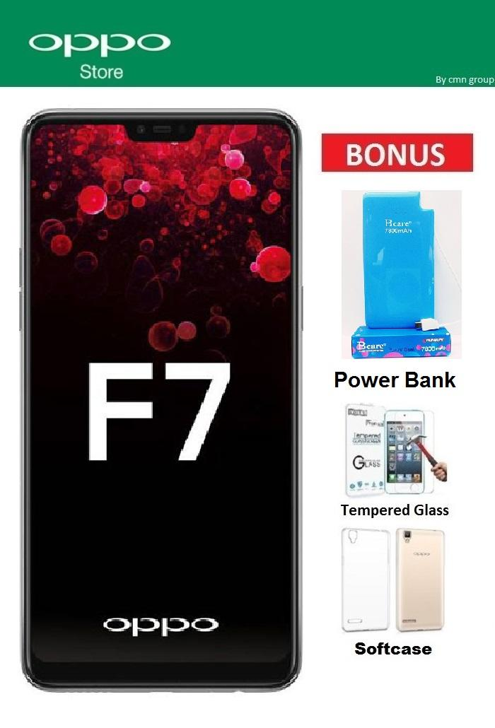 Oppo F7 Ram 4GB/64GB - Paket Power Bank real Kapasitas 7.800 Mah