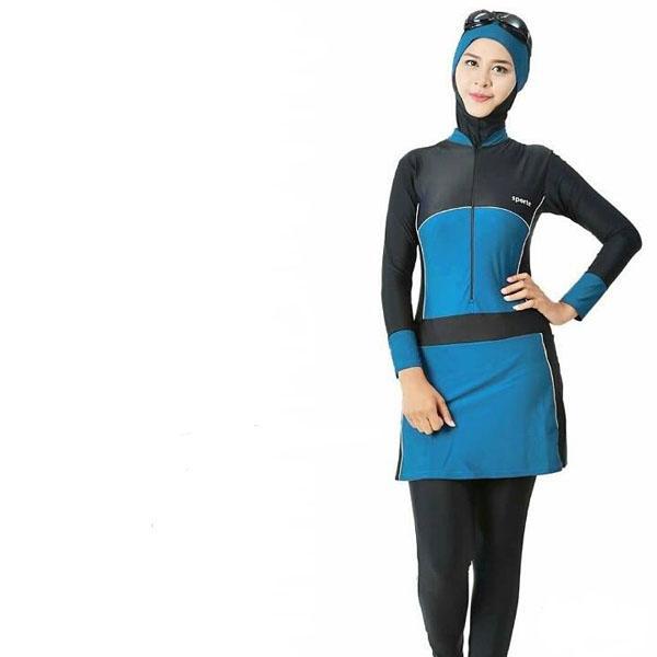 SPORTE Baju Renang Muslim SM 57 Hitam Biru