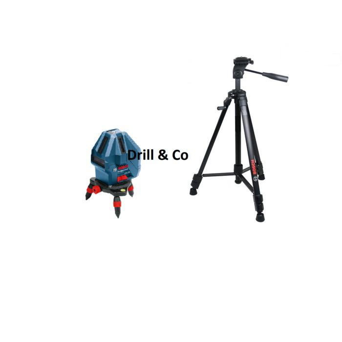 Promo   Bosch GLL 5-50 X Kit + Tripod Set Laser Garis / Line Level   Original
