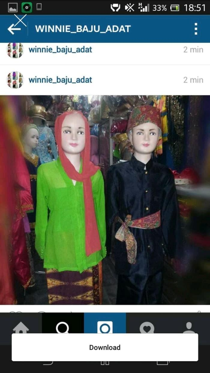 Best Seller!! Baju Adat Betawi Karnaval Pawai Anak 5-7 Th Berkualitas - ready stock