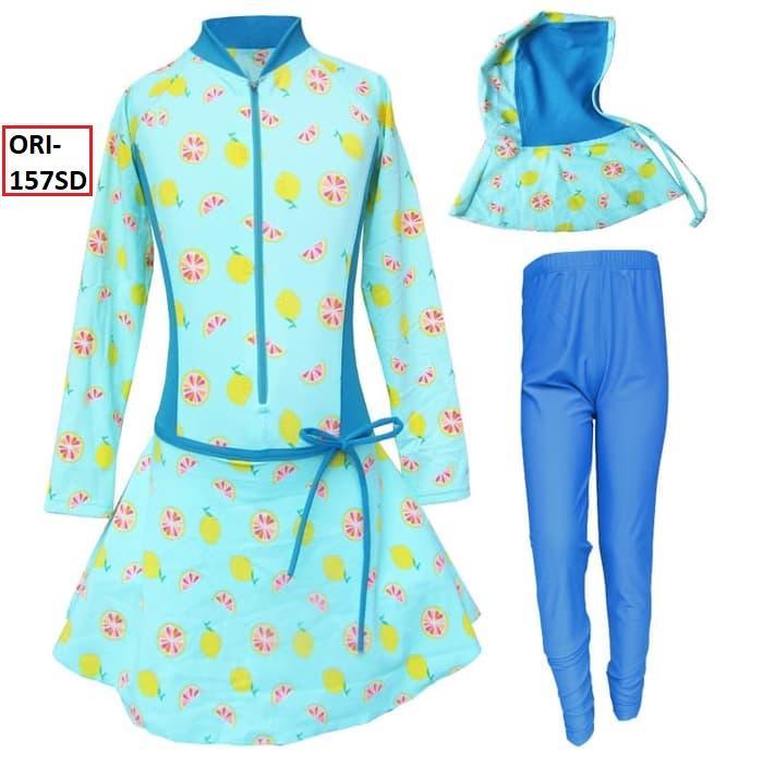 Baju Renang Anak Muslim Motif Lemon Syantik Banget SEGER - 157SD
