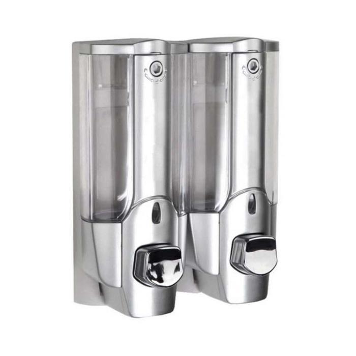 Dispenser Sabun Cair 2 in 1 with Key Lock - Tempat Sabun Cair 2 in 1 - Silver HARGA BERBANDING LURUS DENGAN KUALITAS / PACKING AMAN  / DOUBLE WRAP