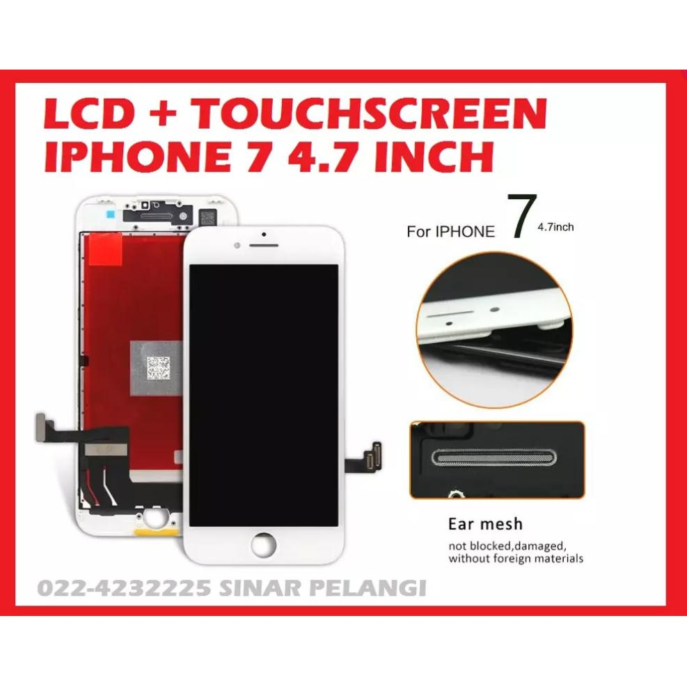 LAYAR LCD FULLSET LAYAR SENTUH TOUCH TOUCHSCREEN IPHONE 7 4.7 INCH WHITE 907234