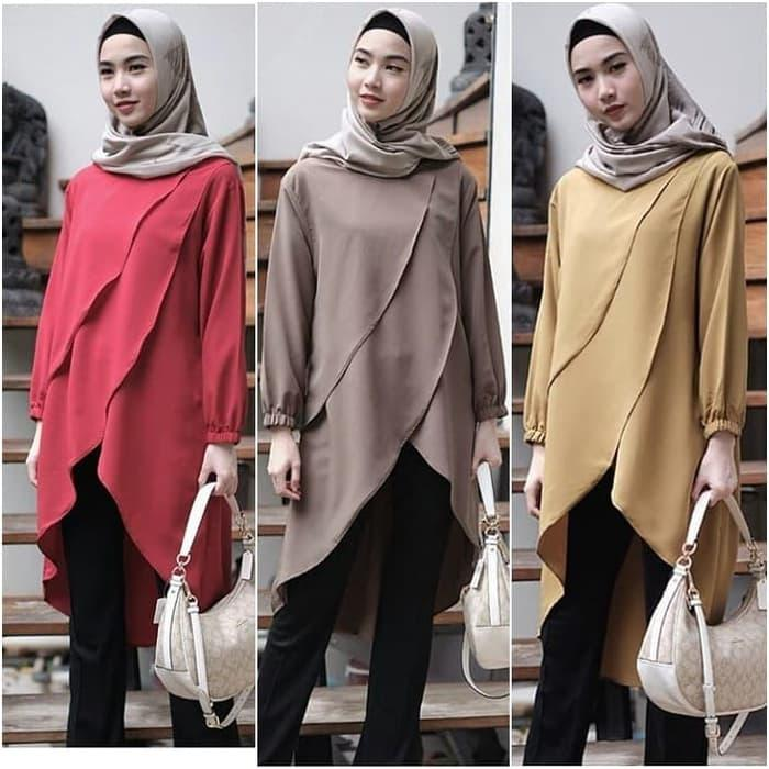 Baju Atasan Wanita Desmira Tunik Blouse Baju Muslim Blus muslim efe37cf17f