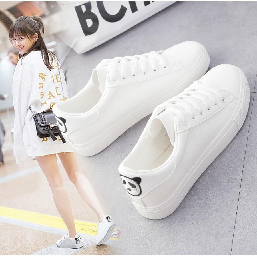 BK Sepatu Kets Wanita Motif Panda Belakang - Kets Sneaker Wanita Putih 32533dc21d