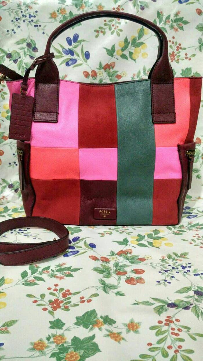 Buy Sell Cheapest Fossil Emerson Fabric Best Quality Product Deals Large Artic Harga Diskon Ready Sale Patchwork Pink Ld42fx