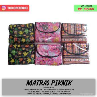 Harga preferensial Matras Lipat Tikar Piknik Bahan Printing Waterproof Packing Ringan beli sekarang - Hanya Rp33.975
