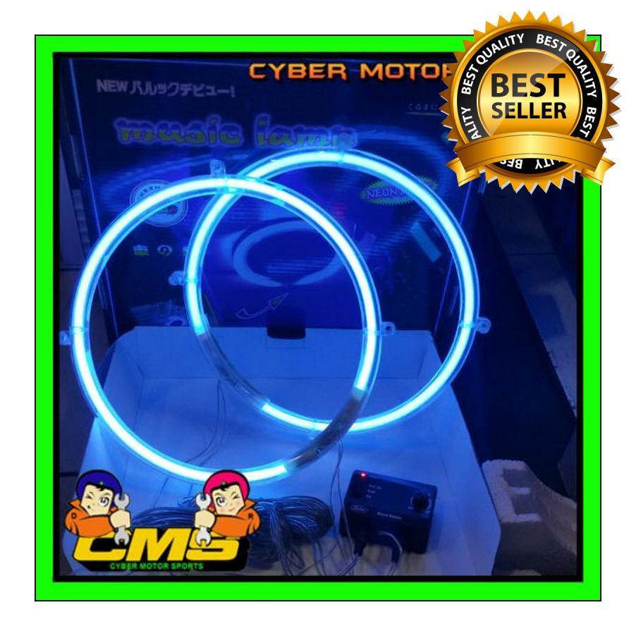 Lampu musik Ring Subwoofer 10 inch dengan sensor suara. Ring subwoofer neon sensor nada . lampu audio mobil. lampu ring speaker. ring speaker lampu