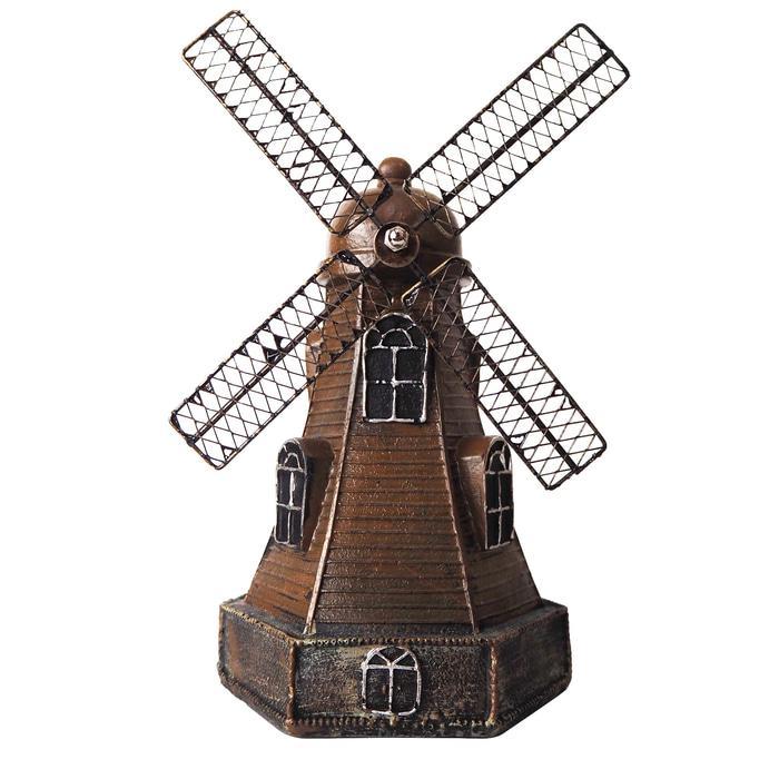 Litong Coklat pajangan hiasan meja vintage unik celengan windmill - BAGUS - MURAH - Aksesoris Meja