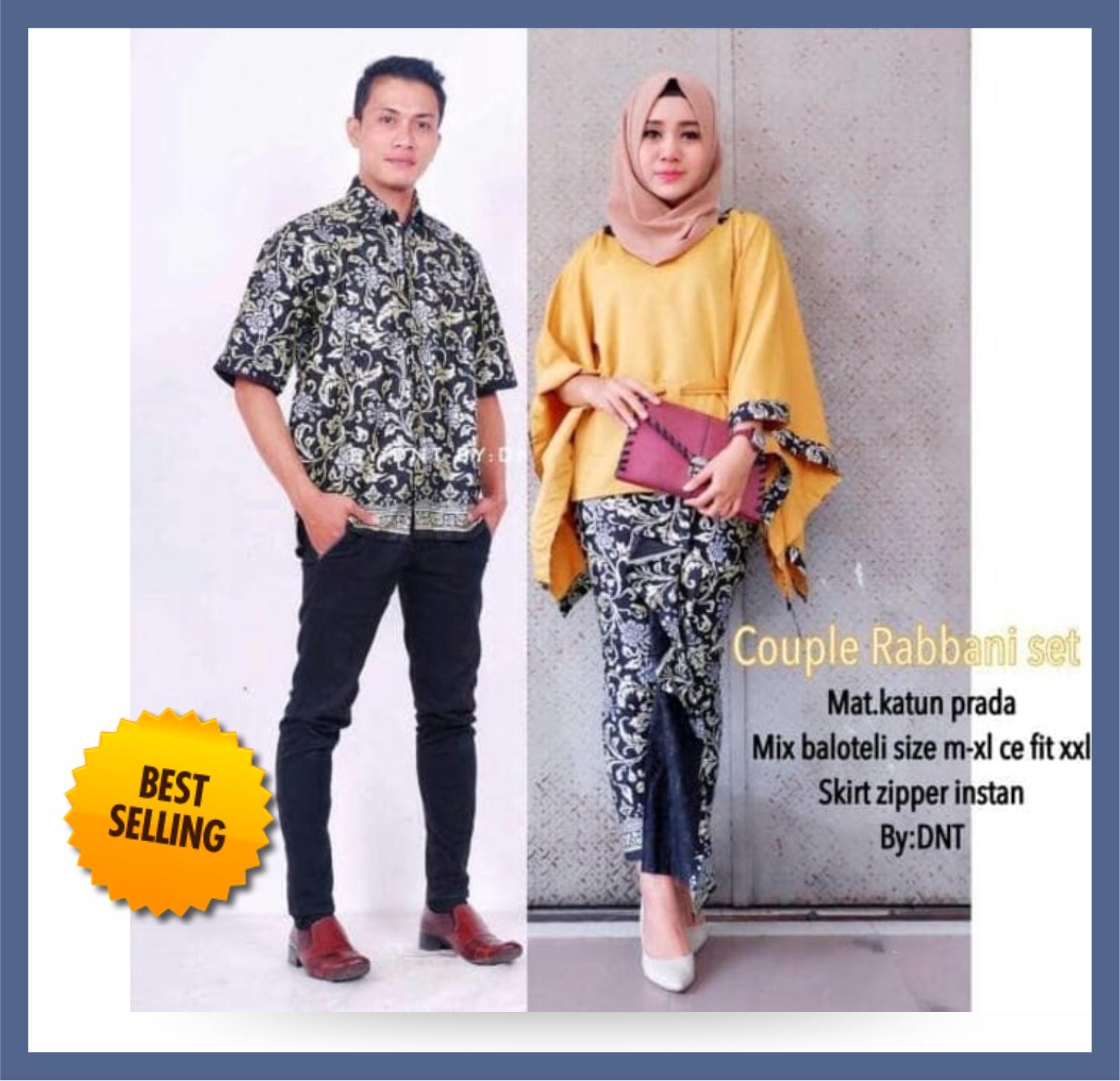 PALING LARIS - Batik Mall - Batik Couple / Batik Couple Sarimbit / Batik pasangan Sarimbit Rabbani Set