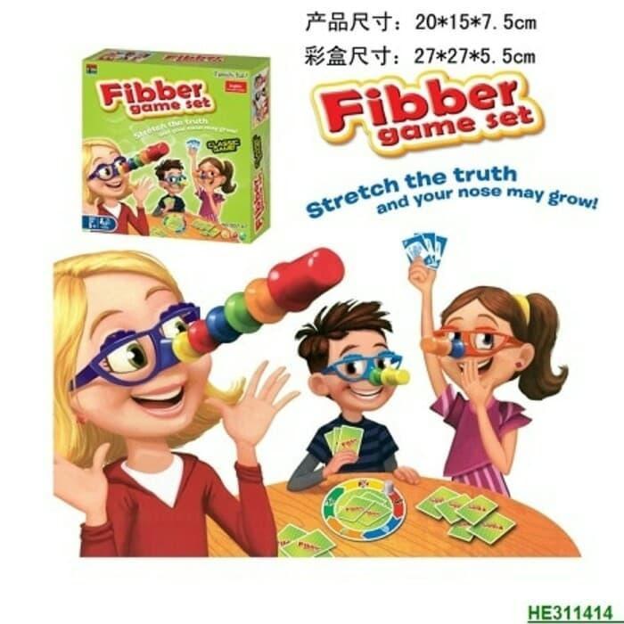 Fibber Game Set Pemainan Kejujuran - Hidung Pinokio By Tokorevolusui.