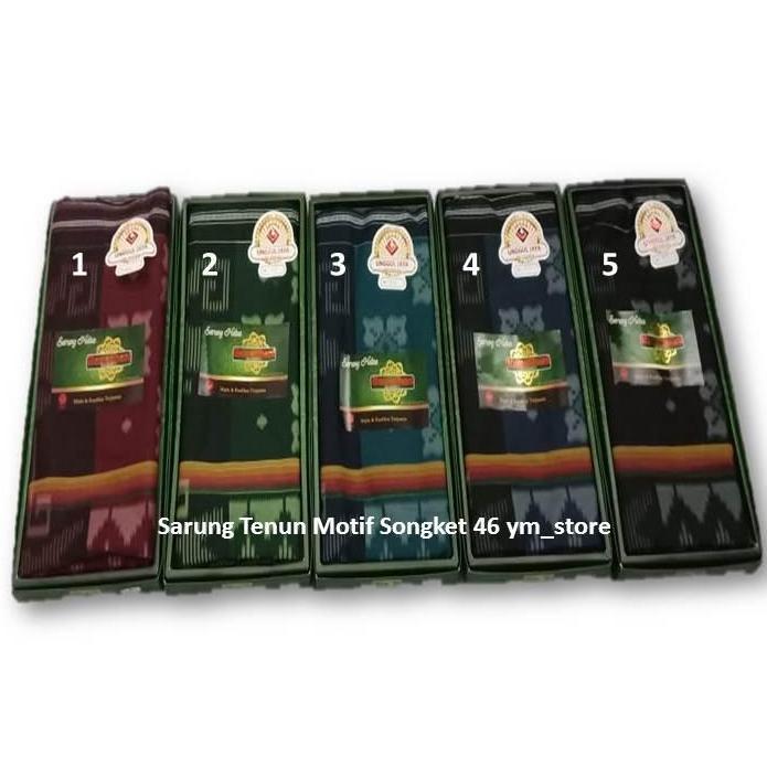 Sarung Tenun, Sarung Samarinda/ Sarung Ramadhani Motif Songket - Best Seller ym_store
