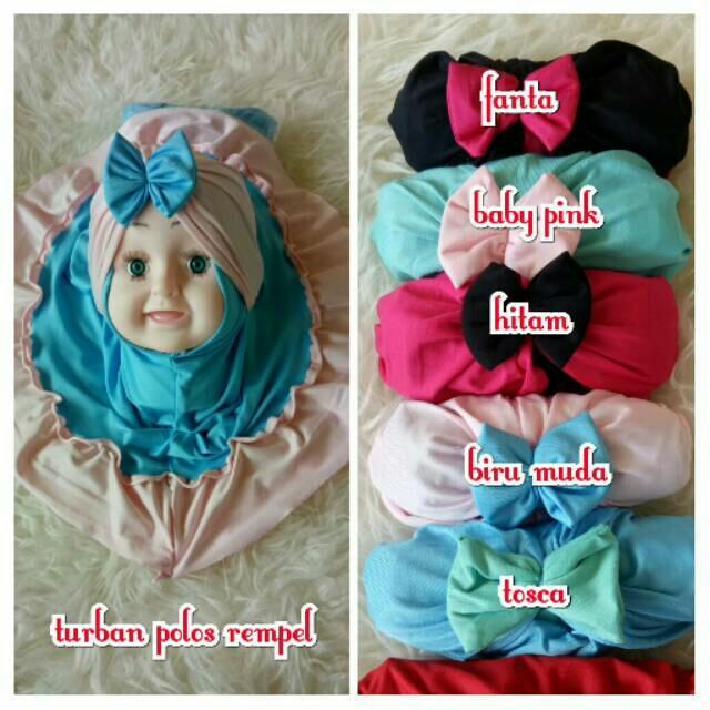 Wuwus - Jilbab Anak Cantik Model Turban Polos Rempel Murah