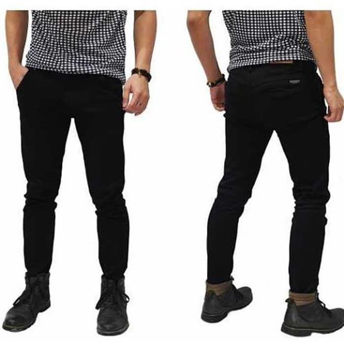 PROMO !! Celana Jeans Braga Ukuran Besar Pensil Skinny Hitam / Black Size 33-38