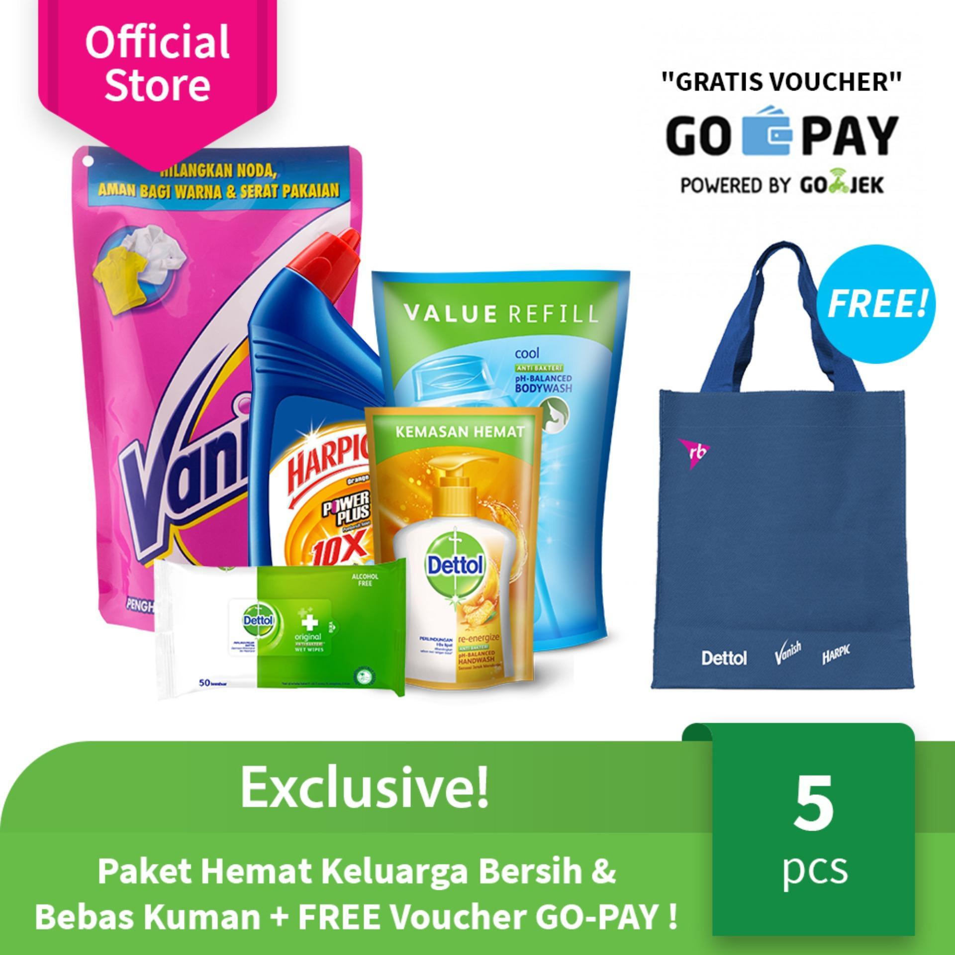 Exclusive! Paket Hemat Keluarga Bersih & Bebas Kuman + FREE Voucher GO-PAY ! (A)