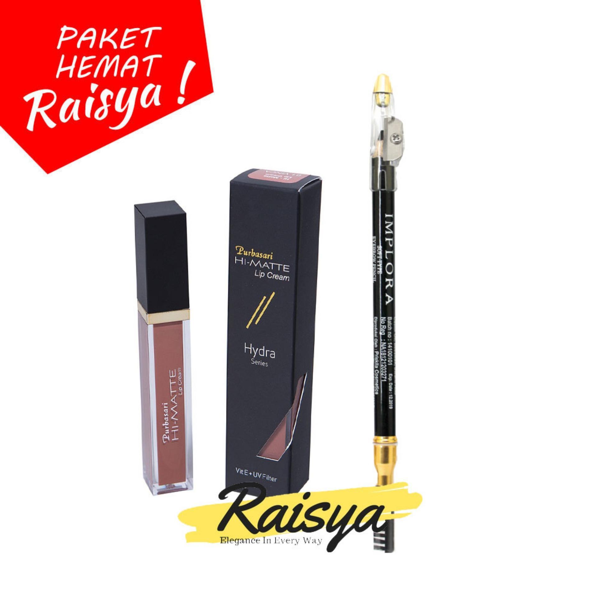 Purbasari Hi-Matte Lip Cream No. 01 Vinca Free Implora Pensil Alis Hitam Resmi BPOM