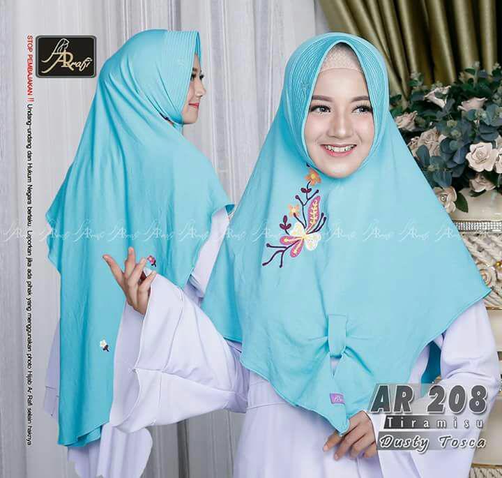 jilbab instan Rayya by Arrafi (warna Dusty Toska) - AR 208 - hijab kerudung b61d20f11d