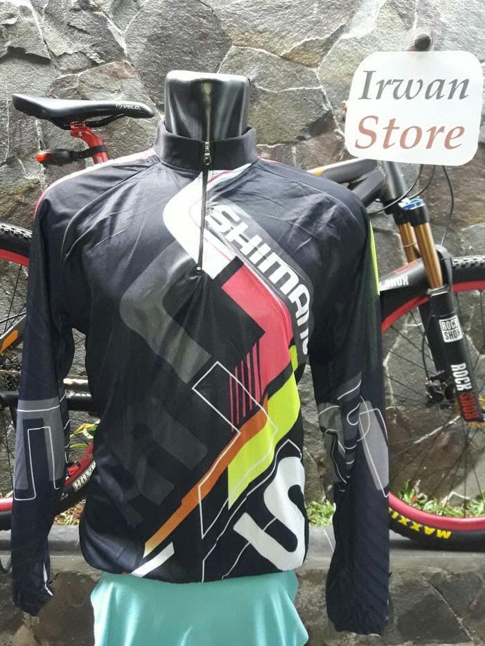 ASLI!!! Baju Jersey Sepeda  Shimano lengan panjang - J4OeoL