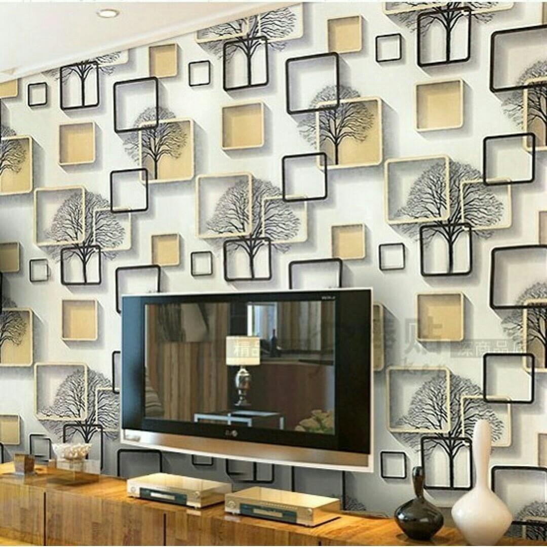 Elegant Wallpaper Sticker Dinding (Size 45cm X 10M) - Stiker Walpaper Dinding