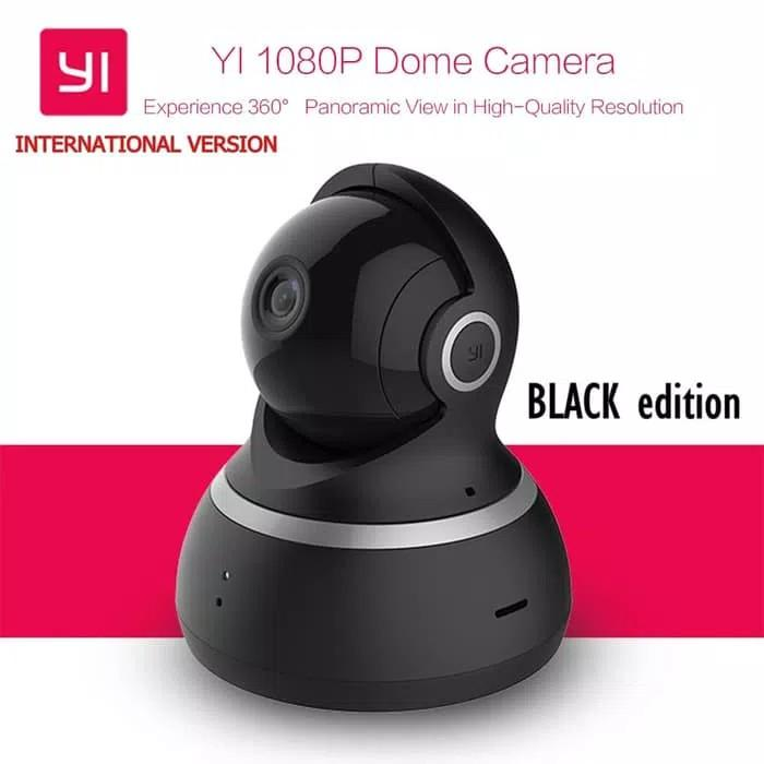 Promo Terbatas!! Ip Kamera Xiaomi Yi Dome 2.0Mp Black Versi Internasional - ready stock