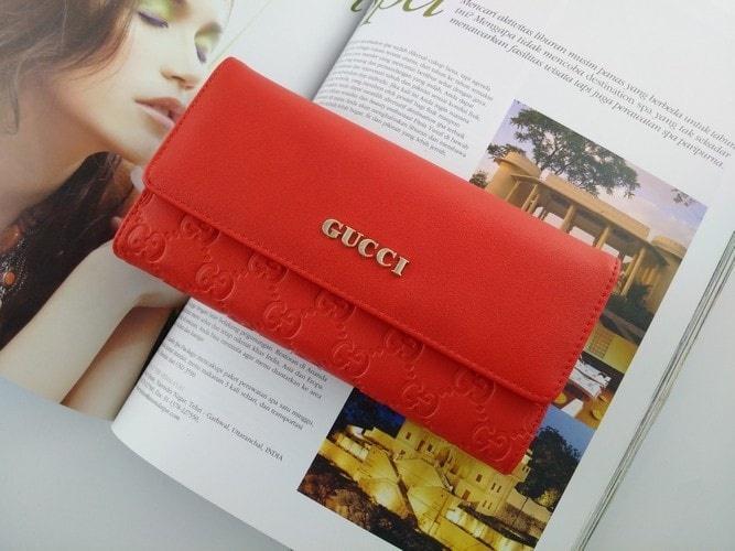 Fashion Wanita  / Aksesoris  wanita / Dompet Wanita import /  Dompet Super Branded Fashion Wanita Import Clutch gucci 282628 / Dompet wanita Import original