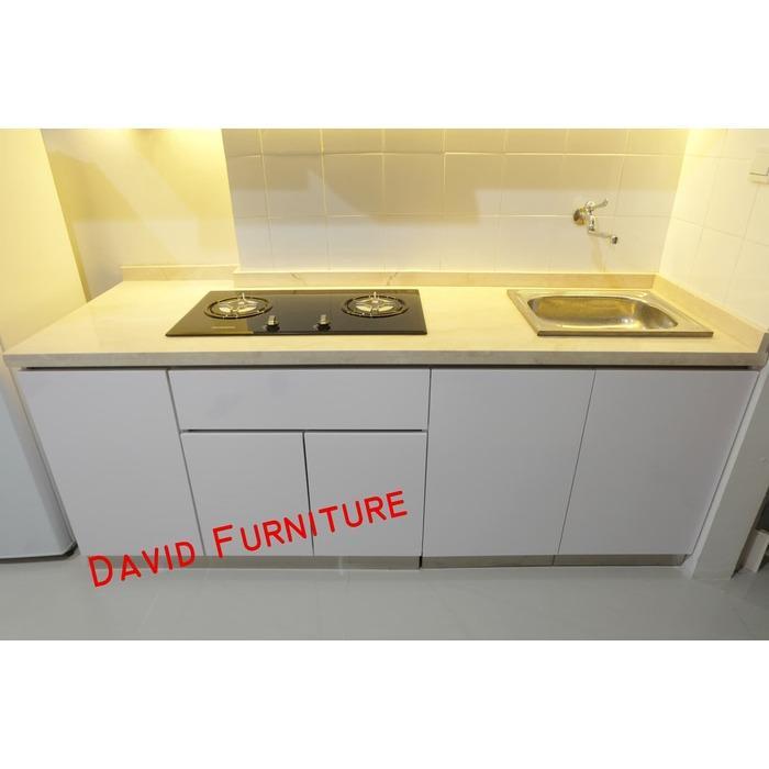 kitchen set marmer kompor hood modena rak piring stainless apartemen