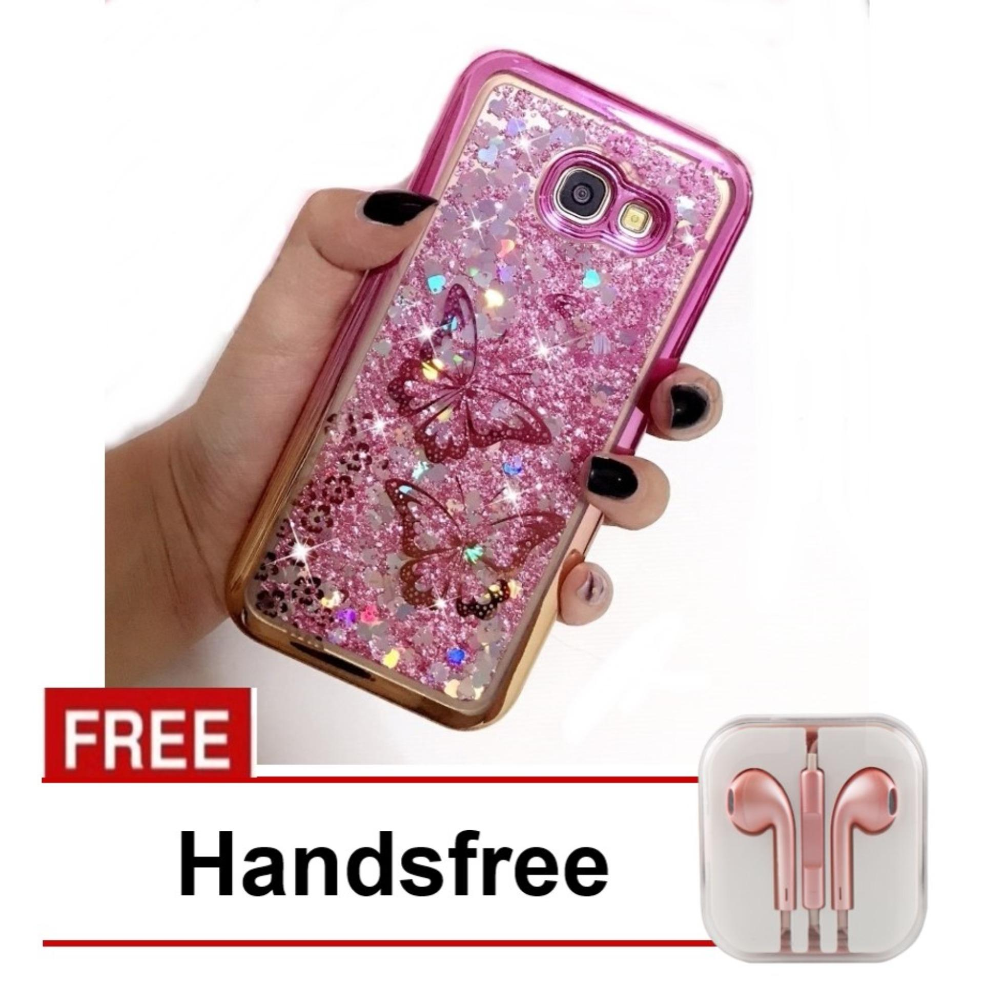 Case Executive Fashion Glitter Water Blink for Samsung Galaxy A5 2017 - Random Color + Free Handsfr