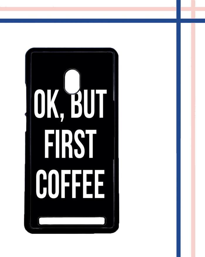 Casing gambar motif HARDCASE untuk hp Asus ZenFone 6 OK, But First Coffee B0186