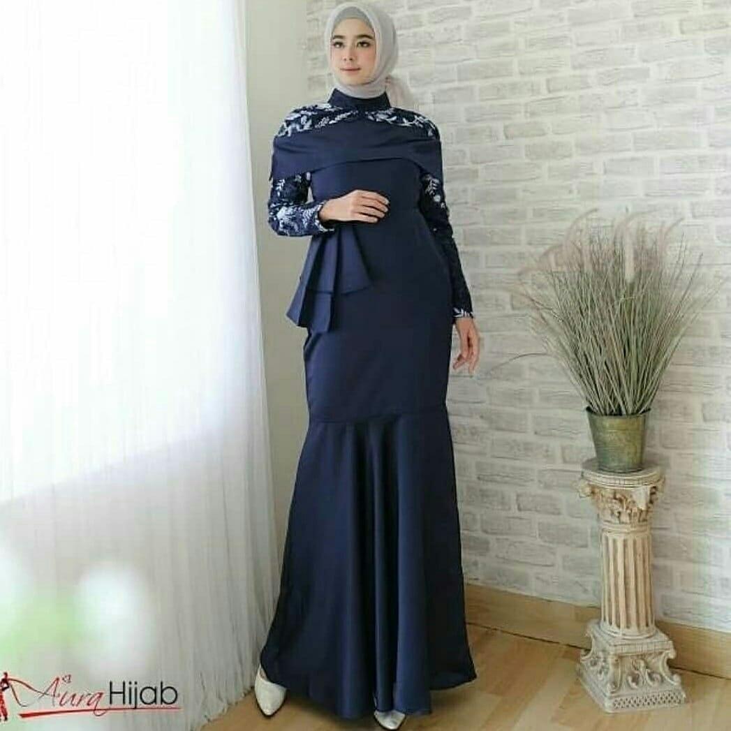 Elia Baju muslim  /Gamis pesta/ Baju gamis/Gamis wanita/ Baju muslim wanita terbaru promo