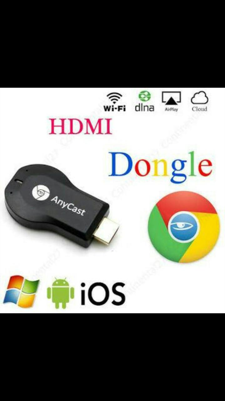 ANYCAST ORIGINAL HD DONGLE alat penyambung penghubung hp handphone ke tv televisi WIRELES DISPLAY RECEIVER support sharing online stereming to tv