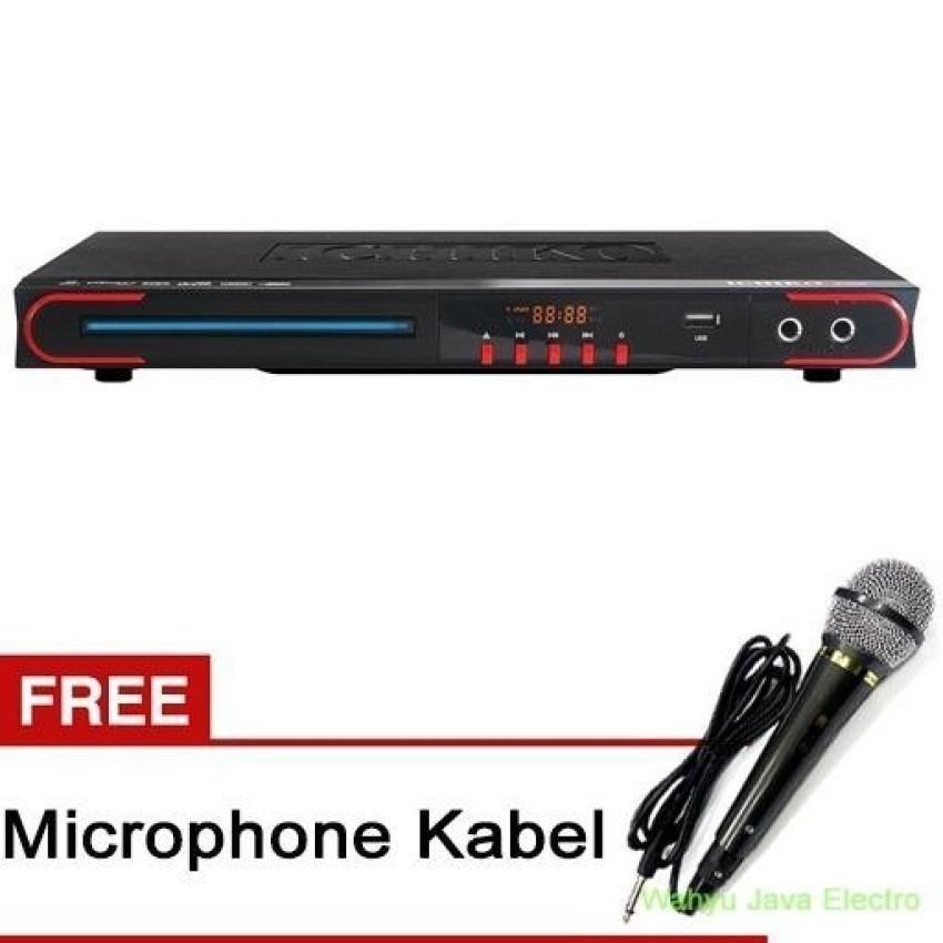Ichiko DVD Player DV-VR960 - Hitam + Free Microphone Kabel yamaha